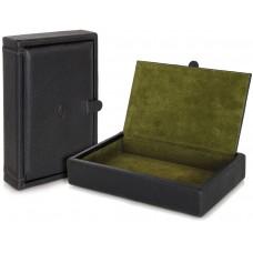 Svuotatasche porta oggetti scatola grande in pelle Nero