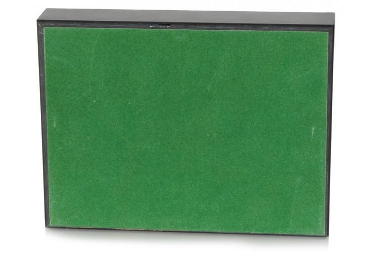 Cofanetto in legno di noce , contenente Set da carte francesi
