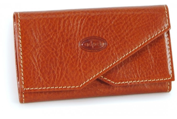 Visitenkartenetui kreditkarte aus leder 11cm Cognac
