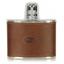 Leather liquor flask 4oz Brown