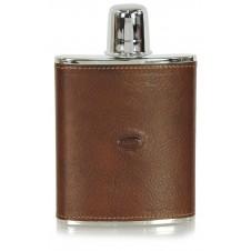 Fiaschetta per liquore in pelle 6oz Marrone/Castagno