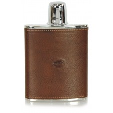 Leather liquor flask 6oz Brown