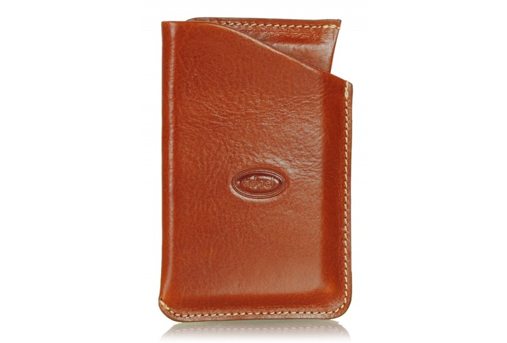 Stylish business / visit card / credit card sleeve Cognac