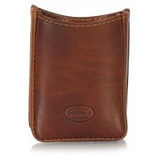 Cigarette packet holder soft Vegetable leather standard 20 - Brown