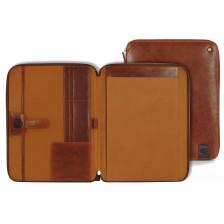Portablocco A4 / Porta iPad 12.9'' in pelle colore Castagno