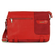 Satchel messenger multi pocket bag 13'' Red