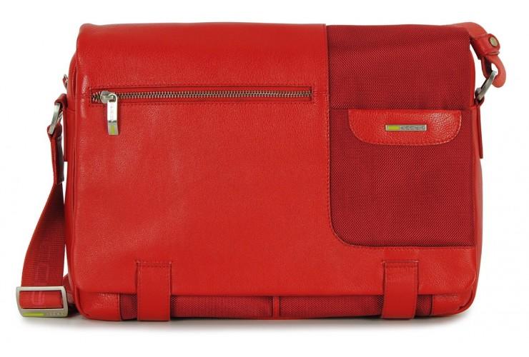 Satchel messenger multi pocket bag 13'' Red