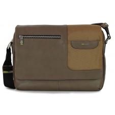 Satchel messenger multi pocket bag 13'' Gray/Taupe