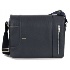 Shoulder Bag messenger leather Blue 13''