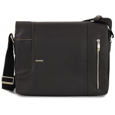 Borsa a tracolla messenger in pelle Marrone 13''