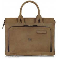 Aktentasche 15 '' Vintage Braun / Rinde Leder