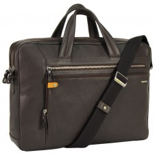 "Borsa portadocumenti due manici in pelle 14"" Marrone/Moka"
