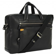 "Borsa portadocumenti due manici in pelle 14"" Nero"