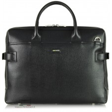 Briefcase portfolio 2 handles 15'' Saffiano leather Black
