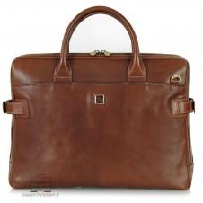 Briefcase portfolio 2 handles 15'' Elite vegetable tanned leather Chestnut