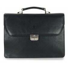 Aktentasche laptoptasche Classic 3-Zwickel 15' aus hochwertiges pflanzlich gegerbt leder 42cm Braun