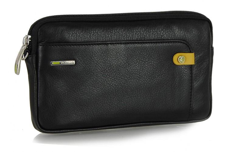 Handgelenktasche klein Herrentasche tablet-fach 7'' aus leder Schwarz