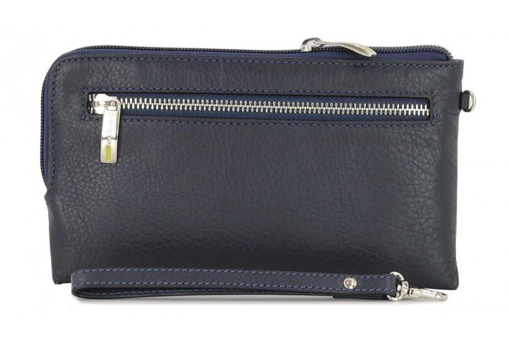 Borsello a mano Pochette da polso in pelle laccio tasca-tablet 7'' Blu