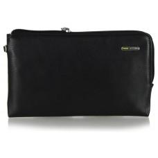 Borsello a mano Pochette da polso in pelle laccio tasca-tablet 7'' Nero