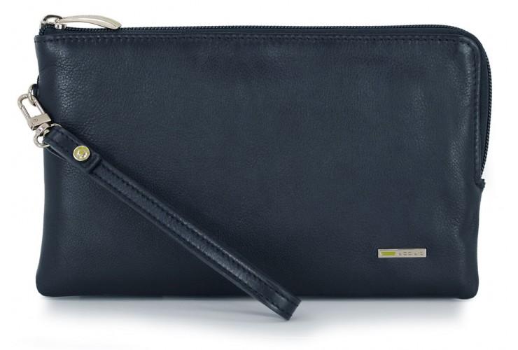 Borsello a mano Pochette da polso in pelle laccio tasca-tablet 9'' Blu