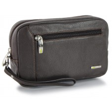 Handgelenktasche Herrentasche aus leder mit tablet-fach 7'' Braun