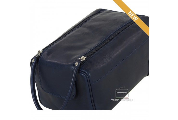 Necessarie portatutto da viaggio , in pelle Blu - WILLIAM