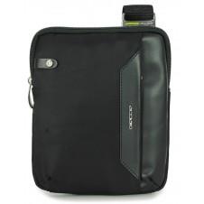 Borsello uomo piccolo in tessuto e pelle Nero porta iPad-Mini
