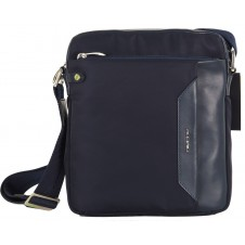 Crossbag Shoulder bag with wide hips 11'' Blue