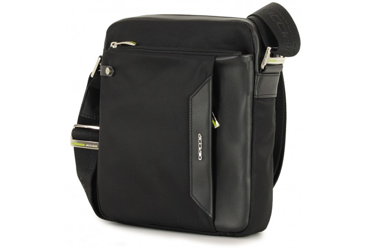 Crossbag Shoulder bag with wide hips 11'' Black