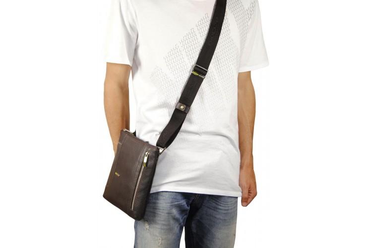 Borsello uomo a tracolla pelle Marrone/Moka 25.5cm