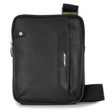 Borsello uomo piccolo in pelle Nero porta iPad-Mini