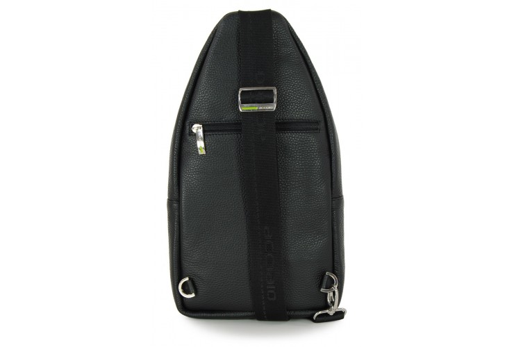 Body Bag Mono Sling in leather cowhide Black
