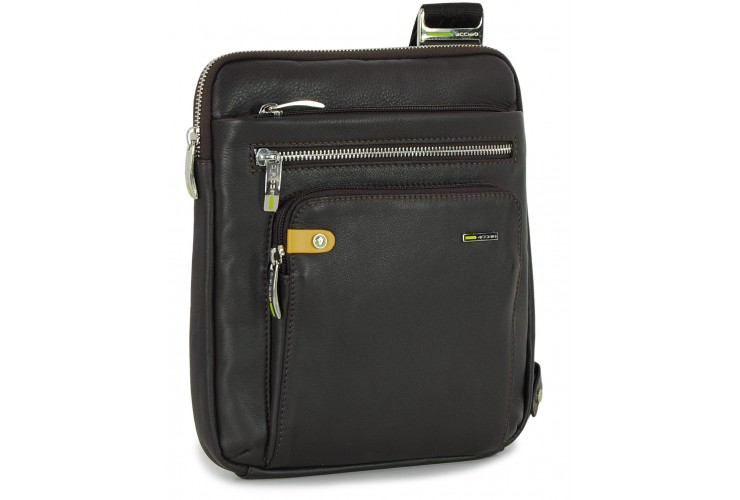 Borsello porta iPad 9.7'' in pelle Marrone/Moka