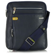 Borsello porta tablet 11'' in pelle Blu/Navy