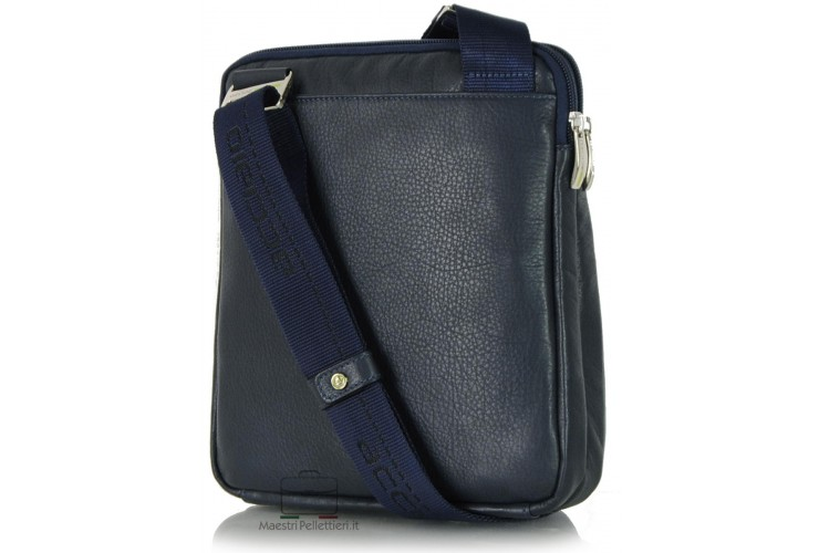 Borsello porta tablet 11'' in pelle Blu/Navy