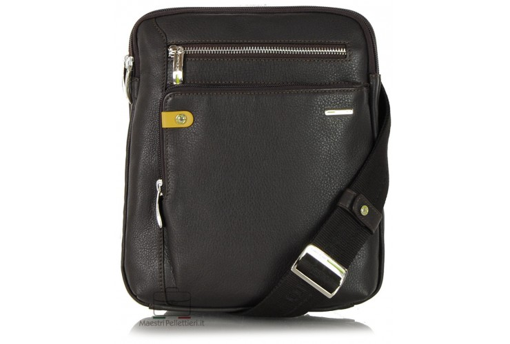 Borsello porta tablet 11'' in pelle Marrone/Moka