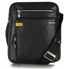 Borsello porta tablet 11'' in pelle Nero