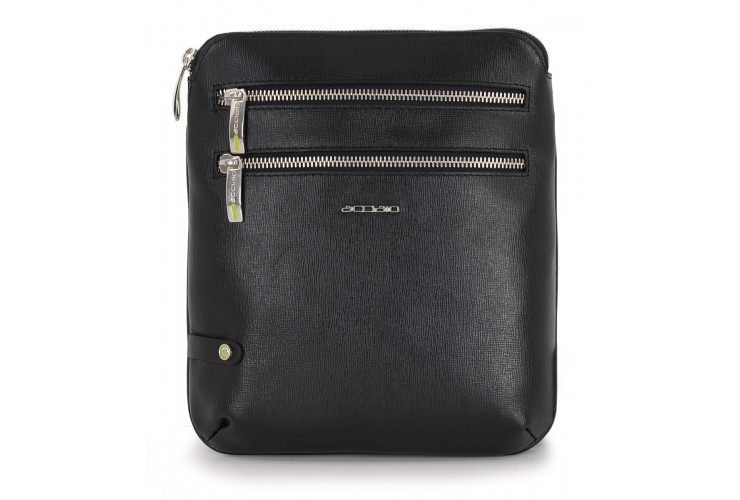 Borsello a tracolla zip tablet 8.9'' pelle saffiano Nero