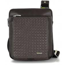 Umhängetasche Schultertasche aus Leder geflochtene Versus Braun iPad-fach 9.7''