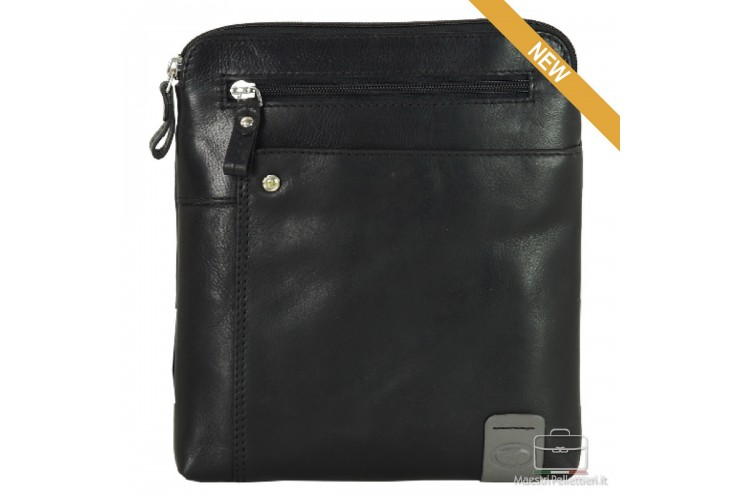 Shoulder bag in leather Black- Notting Hill