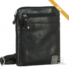 Shoulder bag in leather Black- Notting Hill