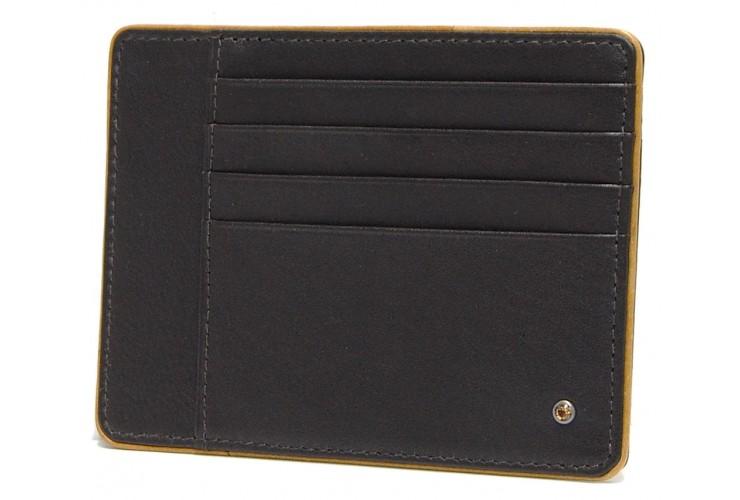 Ausweisetui stilvolle kreditkartenetui 4 kk + 3 dok, leder Dunkelbraun