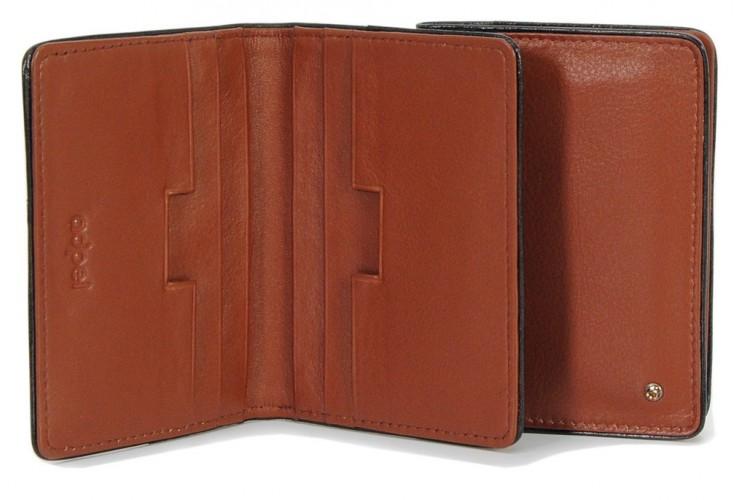 Kreditkartenetui stilvolle visitenkartenetui aus leder 10.6cm Cognac