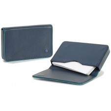 Stylish business / visit card sleeve, magnetic box, with strass 10cm Blue