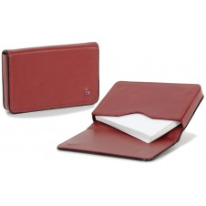 Stylish business / visit card sleeve, magnetic box, with strass 10cm Bordeaux/Black
