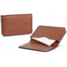 Stylish business / visit card sleeve, magnetic box, with strass 10cm Cognac
