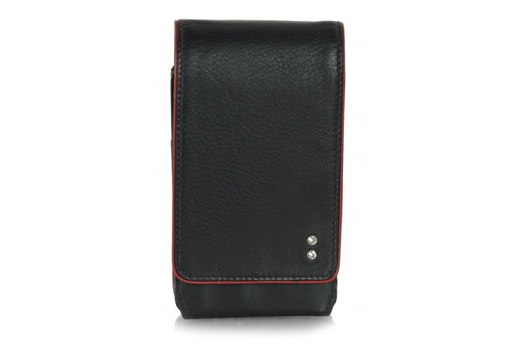 Mini crossbody bag for free time in leather Brown