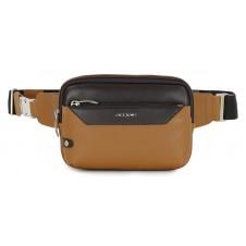 Marsupio in pelle, tasca Tablet 7'' Cuoio/Marrone
