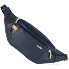 Marsupio in pelle, tasca Smartphone/iPhone 6.5'' Blu