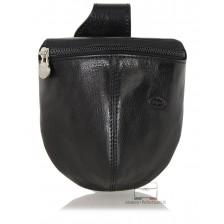 Marsupio da cintura Borsello Tasca in pelle Toscana 13cm Nero